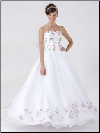 Adorable Luxury Organza Strapless Ballgown