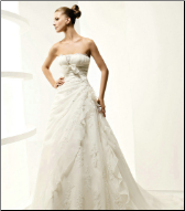 Organza and Satin Wedding Gown