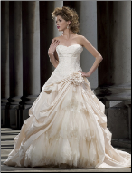 Strapless Taffeta Ballgown Wedding Dress