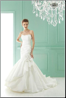 Taffeta Mermaid Style Wedding Dress