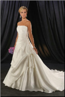 Satin Fit and Flare Bridal Ball Gown