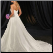 Satin Fit and Flare Bridal Ball Gown showing back of gown and train