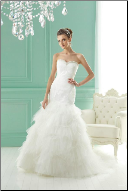 Satin and Tulle Mermaid Wedding Dress