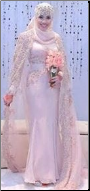 Modest Gown for Muslim Bride