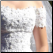 Off-the-Shoulder Bridal Gown in Lace and Satin - close up of bodice - gown is for rent