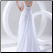 Romantic Empire Style Chiffon over Satin Wedding Dress showing back of gown