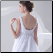 Romantic Empire Style Chiffon over Satin Wedding Dress - close up of back