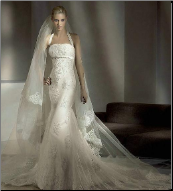 Halter Neckline Bridal Gown of Satin and Tulle with Lace