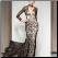Vintage-look High Neck Appliqued Beaded Mermaid Style Gown