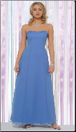Chiffon over Satin Long Bridesmaid Dress