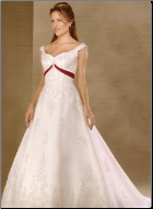A-Line Satin Wedding Dress