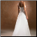 Strapless A-Line Chiffon over Satin Wedding Gown showing lace up back
