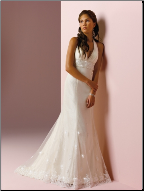 Romantic Lace and Tulle Gown with Halter Neckline