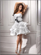Short and Sweet Satin Dress for Wedding or Reception