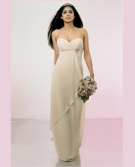 Simple empire line ankle length chiffon for Simple ankle length wedding dresses