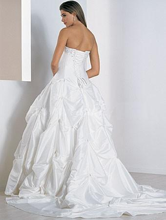 Plus Size Alfred Angelo Satin Ballgown, Queen size wedding gown ...