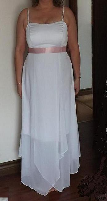 Alfred angelo handkerchief hem casual bridal gown for rent for Rent wedding dress london