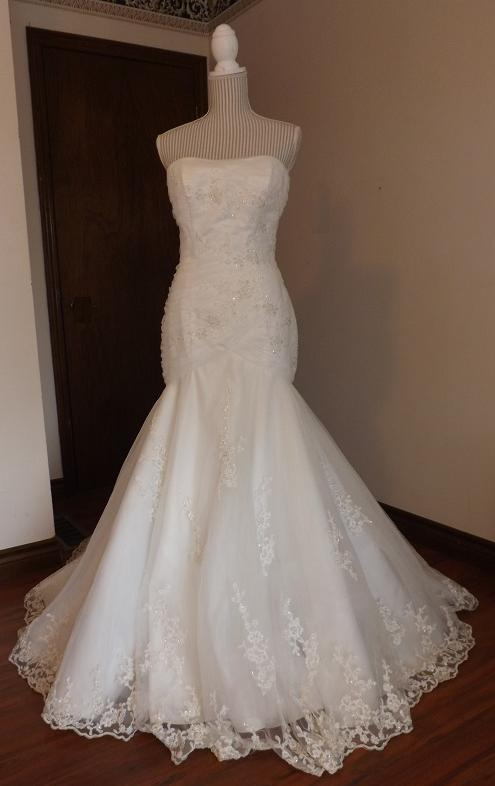 Bridal Gowns For Rent  : Alluring mermaid style embroidered wedding gown for rent