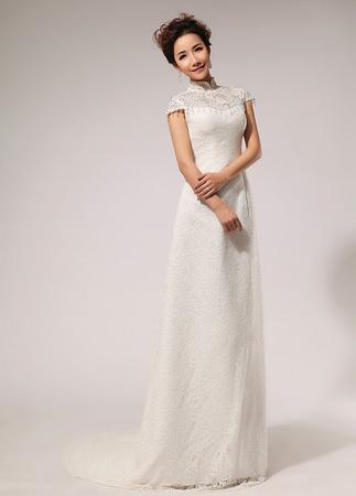 Mandarin Collar Wedding Dress