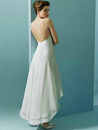 Chiffon over Satin High-Low Wedding Dress $245.00, perfect for beach ...