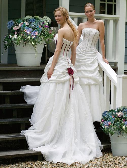Corset Style Satin Wedding Dress, boned bodice, feminine and elegant ...