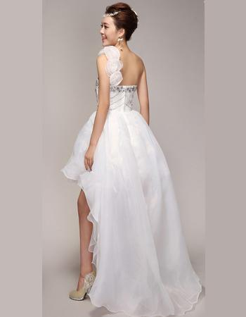 one shoulder high low wedding dress | Gommap Blog