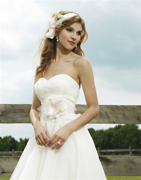 Affordable Informal High Low Princess Style Bridal Gown Ivory White Champagne Free Delivery