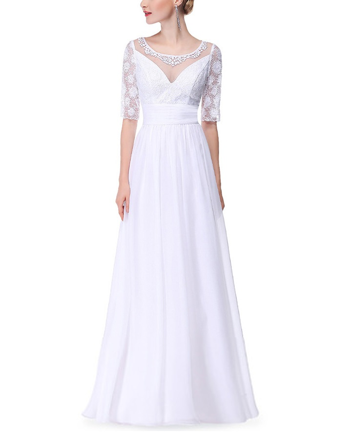 Empire Line Chiffon Wedding Gown With Lace Sleeves, A. Garden Wedding Dresses For Bridesmaid. David's Bridal Lace Wedding Dresses. Champagne And Strawberries Wedding Dresses Taunton. Sheath Wedding Dresses Designer. Blue Wedding Dress With Purple Tulle. Backless Wedding Dresses Jim Hjelm. Blue Dress Wedding Outfit. Ivory Wedding Dress Bhs