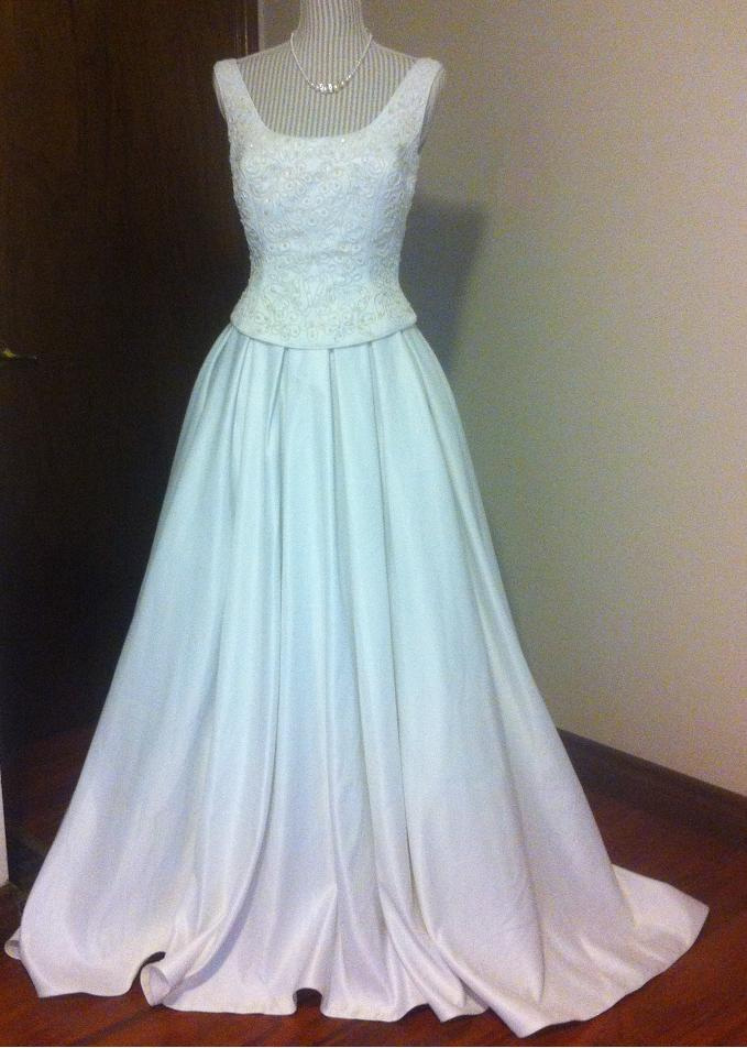 Fabulous Formals White Wedding Gown for rent - size 8