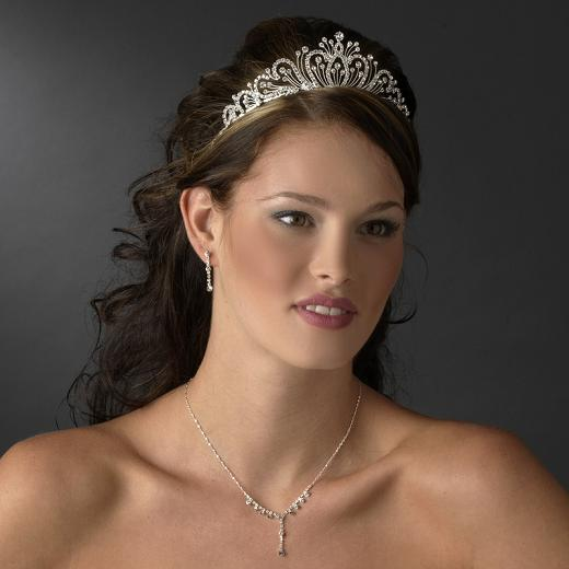 The majestic Catherine of Russia Rhinestone Bridal Tiara - this ...: www.wedding-gowns-on-line.com/catherine-of-russia-rhinestone-bridal...