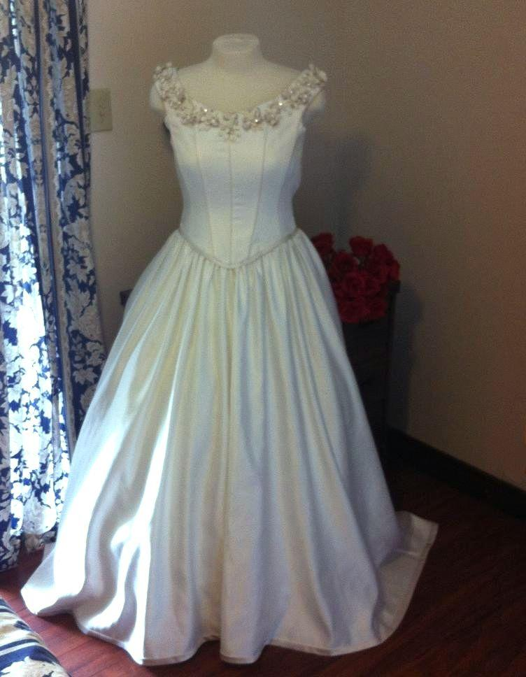 Bridal gowns for rent  : Dreamy romantic off the shoulder satin bridal gown for