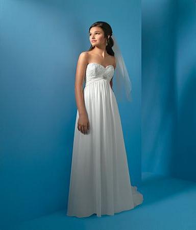 Strapless Empire Line Wedding Dress is elegant, classic look, Chiffon