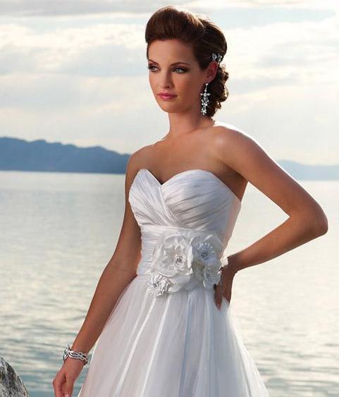 Sweetheart neckline tea length wedding dress for Sweetheart neckline tea length wedding dress