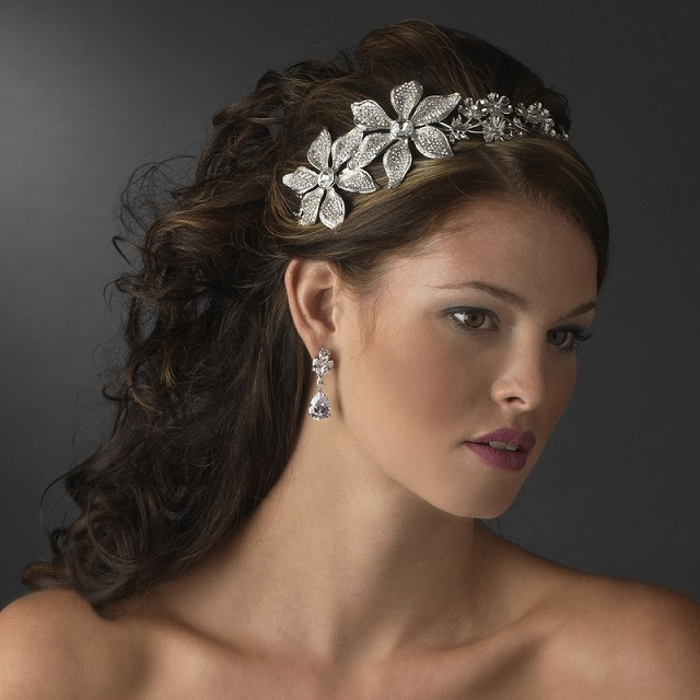 Tatiana Antique Silver Headpiece