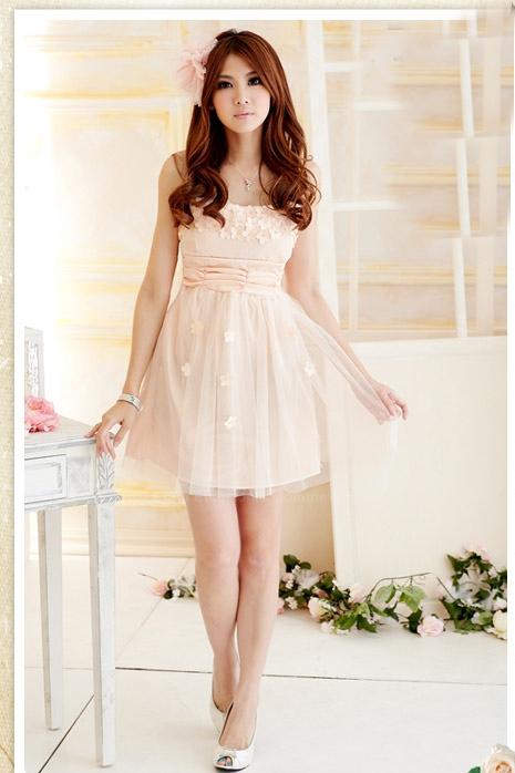 Sweet Strapless Pink Mini Dress