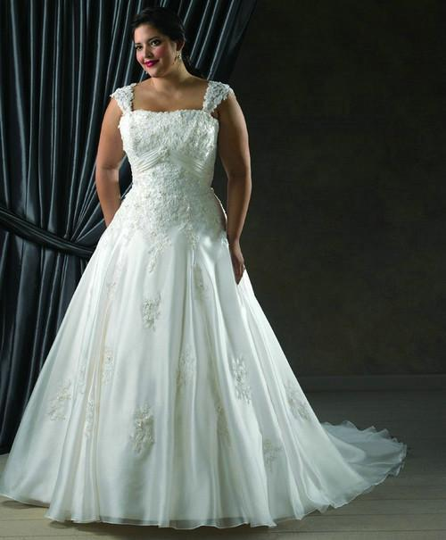 Plus Size Satin And Organza Wedding Dress 325 00 Beautifully