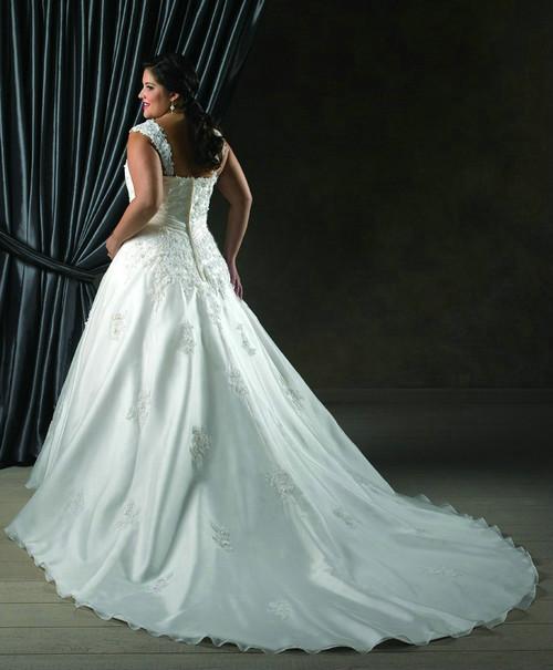 Plus Size Satin and Organza Wedding Dress $325.00, beautifully ...