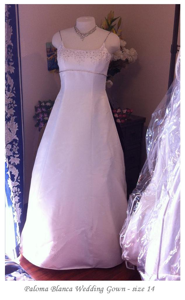 Paloma Blanca Bridal Gown for rent - size 14